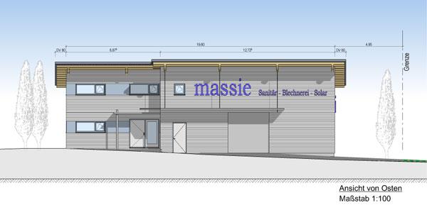 Neubau eines Betriebsgebäudes